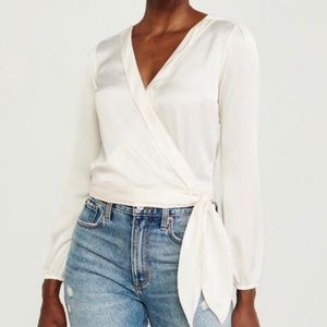 Abercrombie & Fitch Off White Blouse